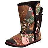 Sugar Shoes Origami Asian Floral Mid Calf Boots