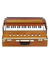 SANSKRITI MUSICALS Folding Harmonium - 9 Stop - Natural Color Safri - AHH