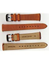 Invicta Genuine Ladies 16mm Tan Satin Ribbed Leather Watch Strap IS533