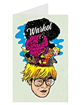 Andy Warhol - History of Art Greeting Card by RJ Artworks