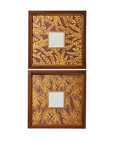 Uttermost Set of 2 Golden Fern Mirrors