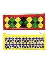 Set of 2 Pencil Pouch, Pencil Case, Pen Pouch, Pen Case, Pencil Box, Wallet, Coin Purse