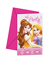Disney Princess Glamour Invitations and Envelopes, Multi Color