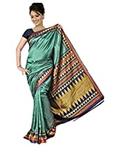 Kothari Printed Saree (KT0109MC_Green)
