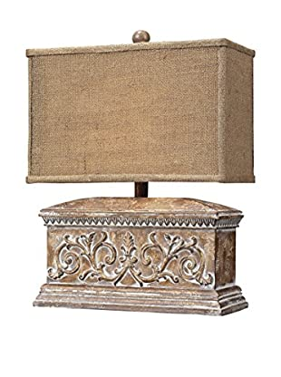 Artistic Lighting Distressed Wood Tone Accent Lamp