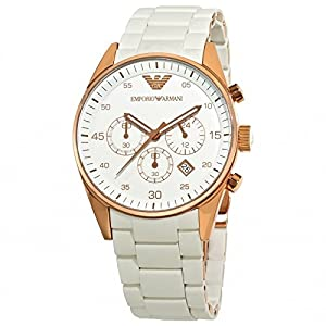 Emporio Armani Men's AR-5919 Sport White Dial Watch