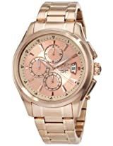 Invicta Men's 1485 Specialty Collection Chronograph Rose Dial 18k Rose Gold Ion-Plated Stainless Steel Watch