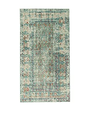 ABC Tappeti Teppich Bright grün/beige/blau 80 x 150 cm