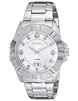 Seiko Lord Analog White Dial Men's Watch - SUR127P1