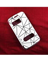 Mobicom Elegant Flip cover for Micromax A110 with Black lines