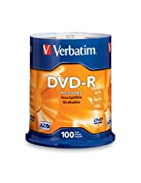 Verbatim 4.7GB up to 16x Branded Recordable Disc DVD-R 100-Disc FFP 97460