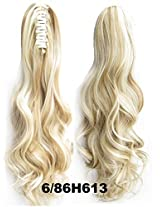 "A.H New 22"" Long Clip In Curly Pony Tail Synthetic Human Made Hair Extensions Wigs 170g #6/86 H613"