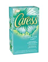 Caress Beauty Bar, Emerald Rush Lush Gardenia & White Tea Essence 4 oz, 6-Bar