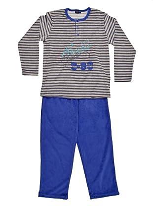 Blue Dreams Pijama Niño Tercipelo (Azul)