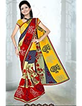 A G Lifestyle Multi Faux Georgette Saree with Unstitched Blouse SUH1018