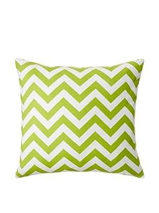 The Pillow Collection Xayabury Zig-Zag Decorative Pillow, Chartreuse, 18