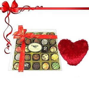 25pc. Signature Chocolate Truffles with Pillow - Chocholik Belgium Chocolates