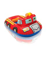 Intex Pool Cruiser Red Fire Engine Inflatable Boat Float for Kids and Children