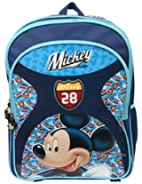 Mickey School Bag Motor Club, Multi Color (16-inch)