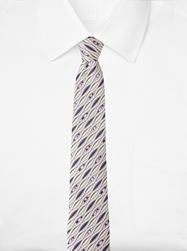 Emilio Pucci Men's Wave Tie, Grey/Lavender