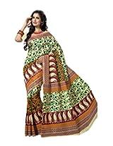 Triveni Blended Cotton Saree (TSMRCCRD463_Beige)