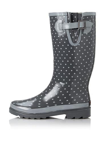 Chooka Women's Classy Classic Rain Boot (Charcoal/White)