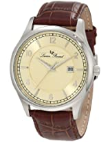 Lucien Piccard Men's 11581-020 Weisshorn Champagne Textured Dial Brown Leather Watch
