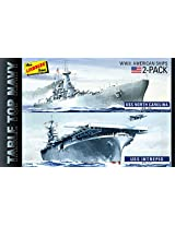 Lindberg USA 1/1200 Scale 2 Pack Table Top Navy Ships Plastic Model Kit