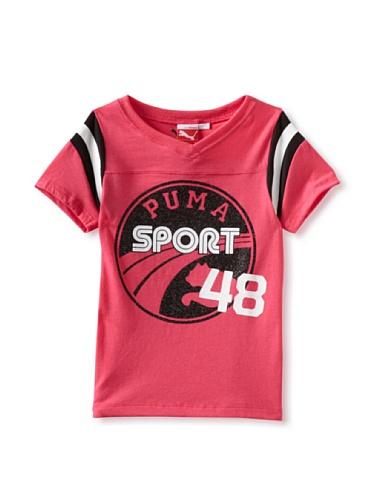 Puma Girls 7-16 Sport Football Tee (Pink)