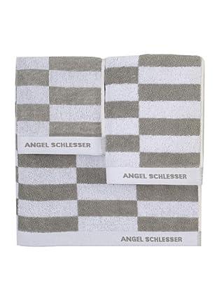 Angel Schlesser Juego de Toallas Basic (Gris)