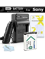 Battery And Charger Kit For Sony DSCRX100 DSC-RX100 DSC-RX100M II DSC-RX1 DSC-HX300 DSC-WX300 DSC-HX50V DSC-HX50V/B Camera HDR-AS10 HDR-AS15 HDR-AS30V HDR-MV1 HDR-AS100V HD Action Cam Includes Replacement (1600Mah) NP-BX1 Battery + Ac/Dc Charger