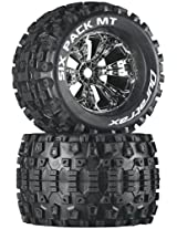 Duratrax Six Pack MT 3.8 Mounted 1/2 Offset Tyre (Set of 2), Chrome