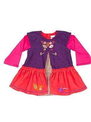 Cattimini Vestido Bordado (Violeta)