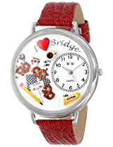 Whimsical Watches Unisex U0430001 Bridge Red Leather Watch