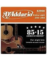 D'Addario Acoustic Guitar Strings 85/15 Bronze . 010-. 050 - Set Ez900