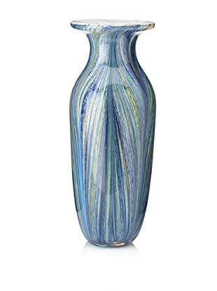 "Badash Art Glass Renoir Vase, Blue Multi, 12"""