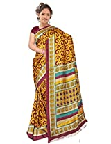 Kothari Saree (KT0127MB _Yellow Maroon)