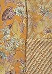Golden Nugget-Yellow Salwar Kameez Fabric with Printed Flowers - Chiffon