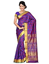 Sweet Purple Art Silk sari with UnStitched blouse