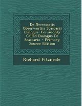 de Necessariis Observantiis Scaccarii Dialogus: Commonly Called Dialogus de Scaccario