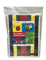 Wikki Stix Re Usable Creative Fun Wax Covered Yarn Stix, Primary Colors, 48 Pack In Resealable Bag (In Prime Time Exclusive)