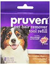 Pruven 849P-RF-8 3.8 by 7.6-Inch Pet Hair Remover Tool Refill with 8-Sheet