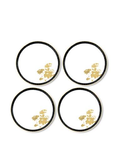Noritake Set of 4 Everyday Elegance Verdena Coupe Bread Plates (Gold)