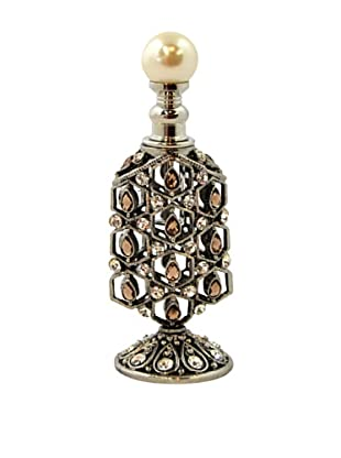 Bejeweled Geometric Filigree Perfume Bottle (White)