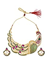 Ethnic and Traditional Indian Artisan Jewelry Set Pretty Necklace setMINE0117PG