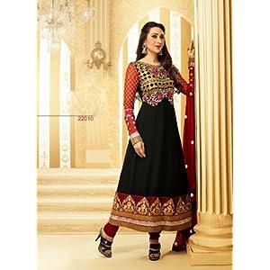 Valuze Karishma Kapoor Anarkali Suit - Black