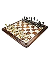 Chess Board/Set - Brass Cavalier Chess Board - CNC-BR-14 - By CHESSNCRAFTS