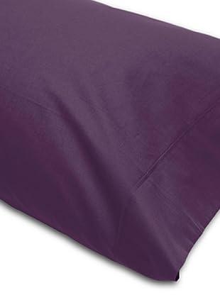Abecé Funda de almohada Lisa (Berenjena)