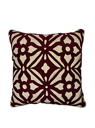Villa Home Matrix Pillow, Burgundy