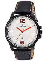 Maxima Analog White Dial Men's Watch - 26024LMGB